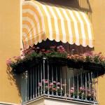 tenda da sole bianco giallo