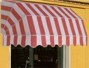tenda da sole bianco rosso