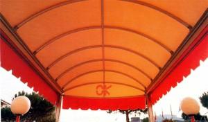 tenda da sole arancio