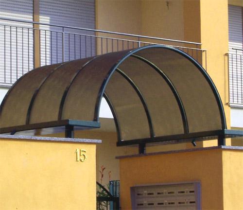 Vendita di tettoie e pensiline in policarbonato padova rovigo elleuno rovigo - Pensiline ingresso casa ...